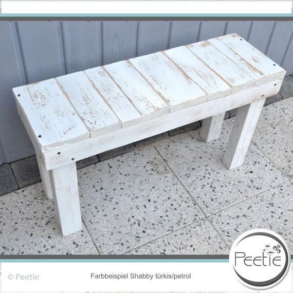Pleasant Vintage Shabby Style Bank Bench Wooden Bench Garcker Country House Custom Garden Bench White Grey Wood Garden Flower Stool Mint Petrol Caraccident5 Cool Chair Designs And Ideas Caraccident5Info