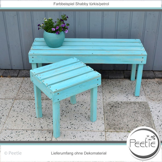 Enjoyable Vintage Shabby Style Bank Bench Wooden Bench Garner Farmhouse Custom Garden Bench Turquoise Wood Garden Flower Stool Mint Petrol Gmtry Best Dining Table And Chair Ideas Images Gmtryco