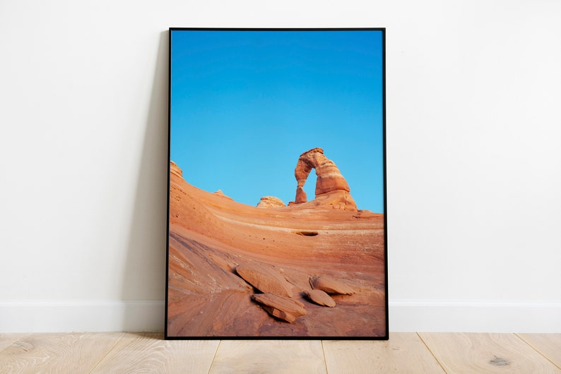 Delicate Arch Printable Photograph Artwork Southern Utah Red Rock Arches National Park Art Print Digital Download