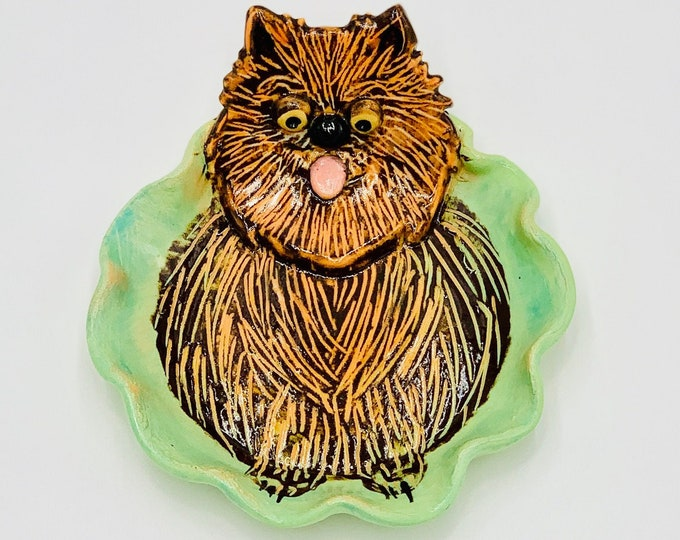 Pomeranian Pottery or Ceramic Handmade Platter or Decorative Plate