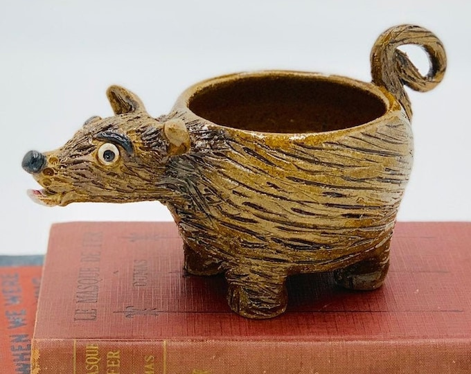 Speckled Puppy Ceramic or Pottery Bowl for Change, Jewelry, Food or Succulents