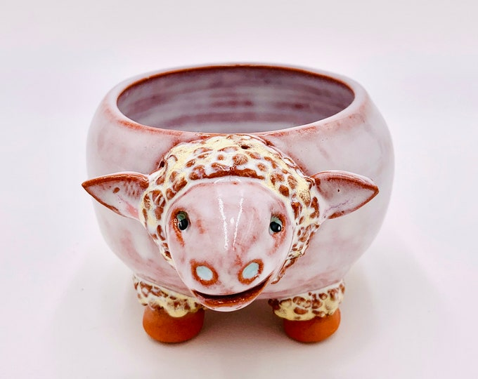 Sheep bowl in Terracotta Clay Ceramic or Pottery Bowl