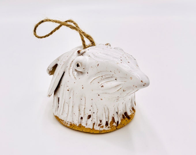 White Bird Bell in Speckle Clay