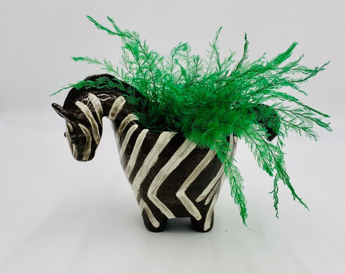 Zebra Ceramic or Pottery Bowl for Change, Jewelry, Food or Succulents