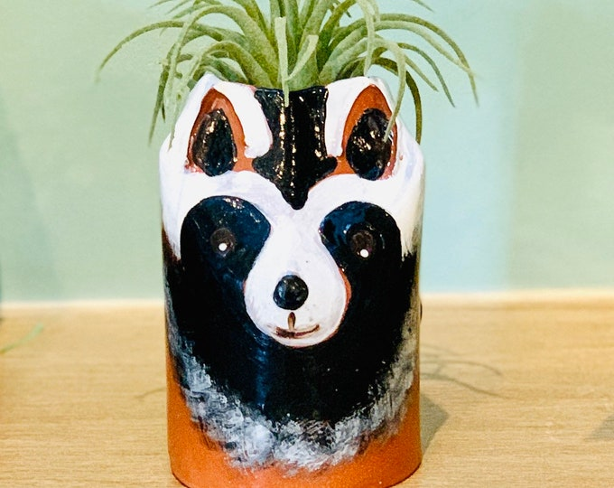 Terracotta Raccoon Ceramic or Pottery Bowl for Change, Jewelry, Food or Succulents