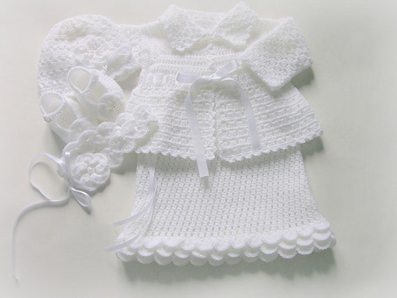 Legen Sie Auf Die Taufe Von Sofia Kleid Pullover Mütze Etsy