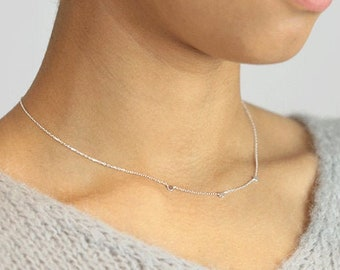 """Silver Necklace """"Maeve"""" #3"""