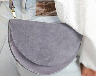 "Crescent bag ""Anouk"" // Lavender"