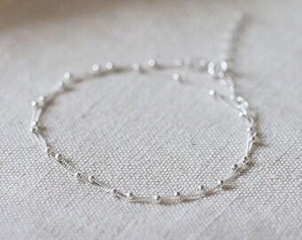 "2in1 Silver Necklace & Double Bracelet ""Yula"""