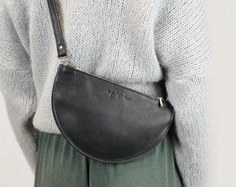 """Crescent Pocket """"Ada"""" / Black"""