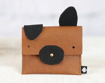 "Children Eco Leather Case//dog ""Enno"""