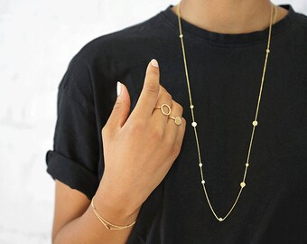 """Gold-plated chain """"Via"""""""