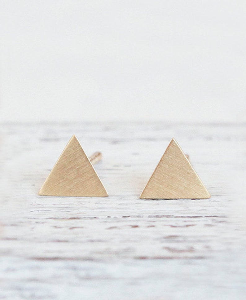 triangle earrings Hoek // gold plated image 0