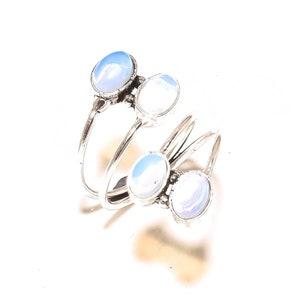 White Opalite Sterling Silver Overlay 4 Grams Stud//Earring 10 mm Top On Trending