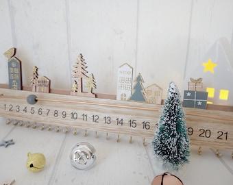 Advent Calendar Advent Calendar Wooden Wooden Bar Fir Houses Gifts Christmas Christmas Decoration Decoration