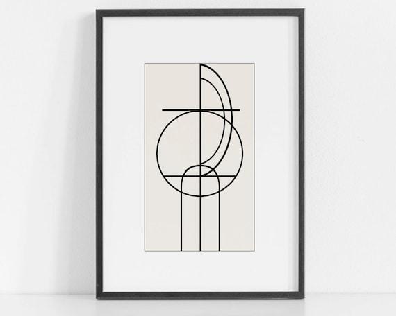 Retro Abstract Printable Art Modern Art Old Norse Art Scandinavian Art Black White Art Download Abstract Nordic Print Viking