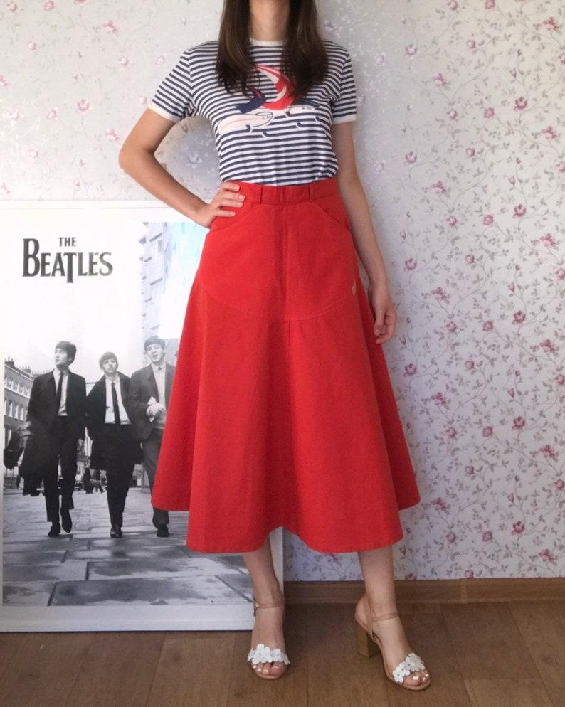 Vintage 80s Midi Skirt
