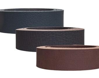 """Water buffalo leather strap """"Dakota"""", matte buffalo leather, belt leather, 3.8 mm thick"""
