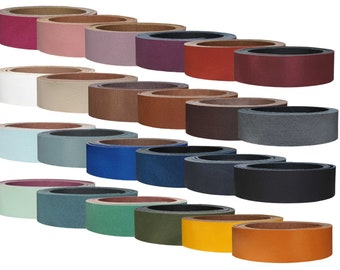 """Leather strap cowhide """"Pull Up"""", in many colors, belt leather, leather stripes"""
