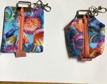 Keychain / Mini Purse Shells Pastel Colors