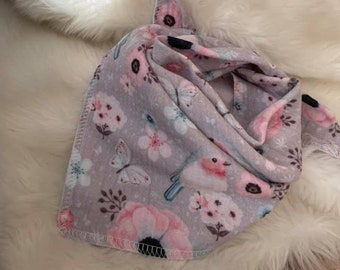 Musselin to knot, robin, taupe, neck era, muslin neck scarf, child girl, spring, baby scarf, baby scarf, triangle scarf