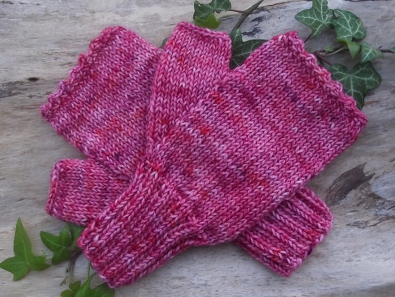 Handcuffs PINK ORCHID Hand dyed wool