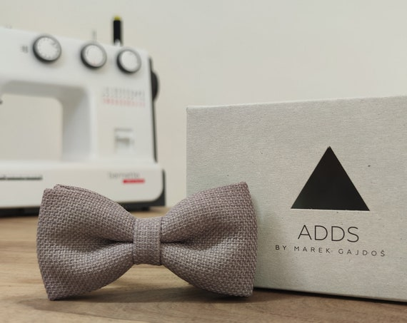 Bow / Grey Bow Tie / Accessory / Gift Idea / Gift for Him / Bow / Handmade Bow Tie / From Germany