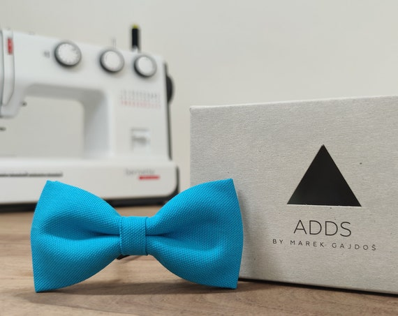 Men's Bow Tie / Blue Bow Tie / Accessory / Cotton / Gift Idea / Gift for Him / Bow / Handmade Bow Tie