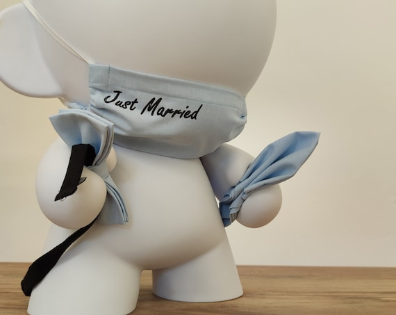 Wedding set, bow tie, pocket and mouth-nose mask, mens set, mask, threesome fabric, filter bag, bag for filters