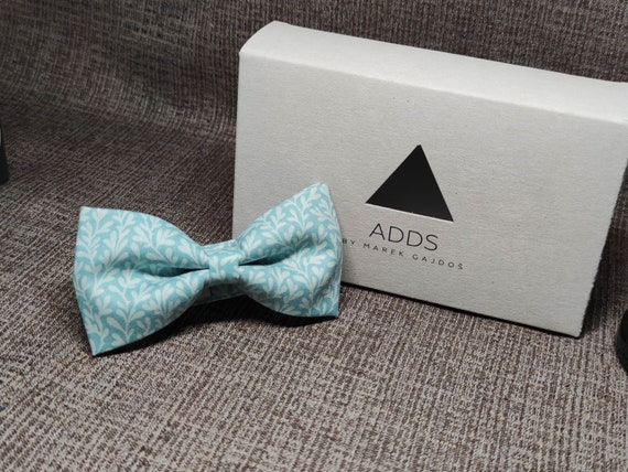 Bow tie - Blue, green with vegetable pattern