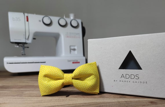 Men's Bow Tie / Yellow Bow Tie / Accessory / Gift Idea / Gift for Him / Bow / Handmade Bow Tie / From Germany