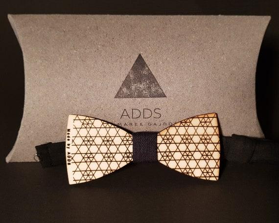 Wood bow tie, bow tie.