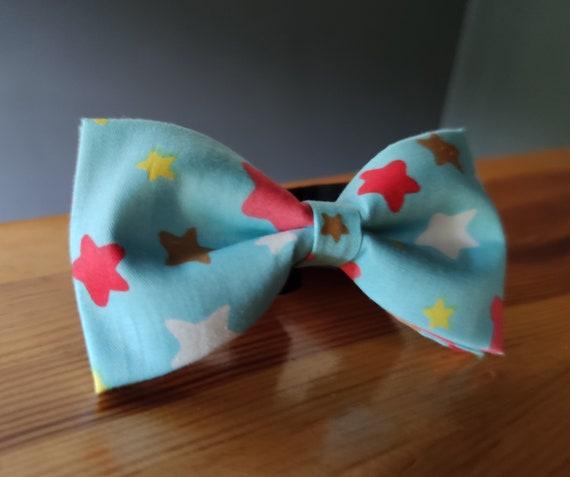 Bowtie / Blue Bow Tie / Stars / Men's Accessory / Accessory / Men's Bow