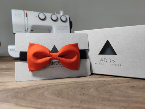 Men's Bow Tie / Orange Bow Tie / Accessory / Gift Idea / Gift for Him / Bow / Handmade Bow Tie / From Germany