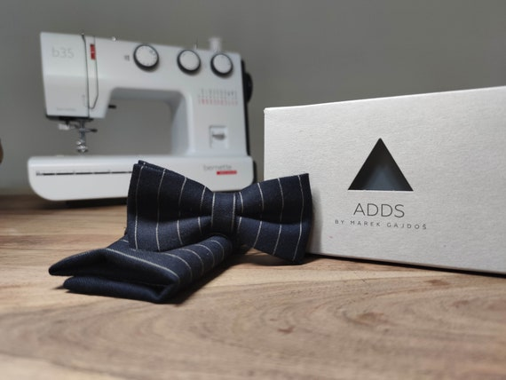 Men's Bow Tie / Set / Pocket Cloth / Blue / Accessory / Gift Idea / Gift for Him / Bow / From Germany / Berlin