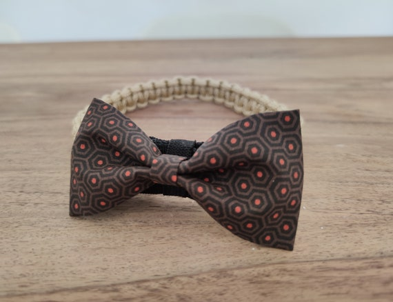 Dog collar with bow tie / paracord choker / bow tie for dog