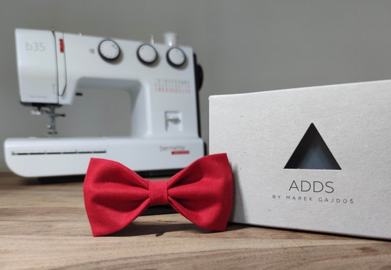 Men's Bow Tie / Red Bow Tie / Accessory / Gift Idea / Gift for Him / Bow / Handmade Bow Tie / From Germany