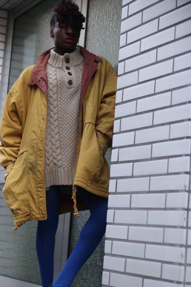 Vintage 90s Peter Hahn Sportiv Yellow Unisex Parka coat S M L