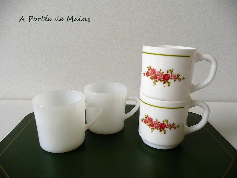 70er Made NestléArcopal Kaffee France Tasse VintageRetro Glas 2 Tassen Jahre In Espresso qMGSpUzV