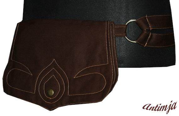 7 Gürteltasche mit Druckknöpfen Hüfttasche Bauchtasche Goa Festival Tasche Nr