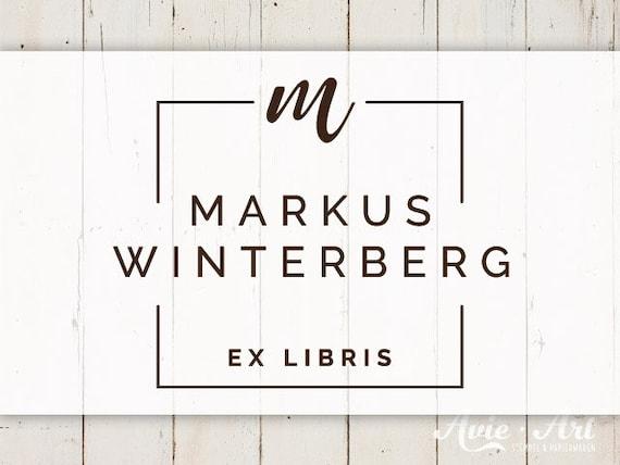 EX LIBRIS Stempel « Eule Buch »  mit pers Namen Buch Bibliothek
