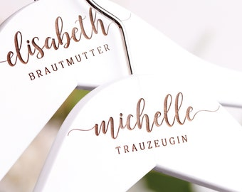 Coat hangers with name, personalized hangers for the wedding, bride, groom, best man, maid of man, gift, flower child, KB-018