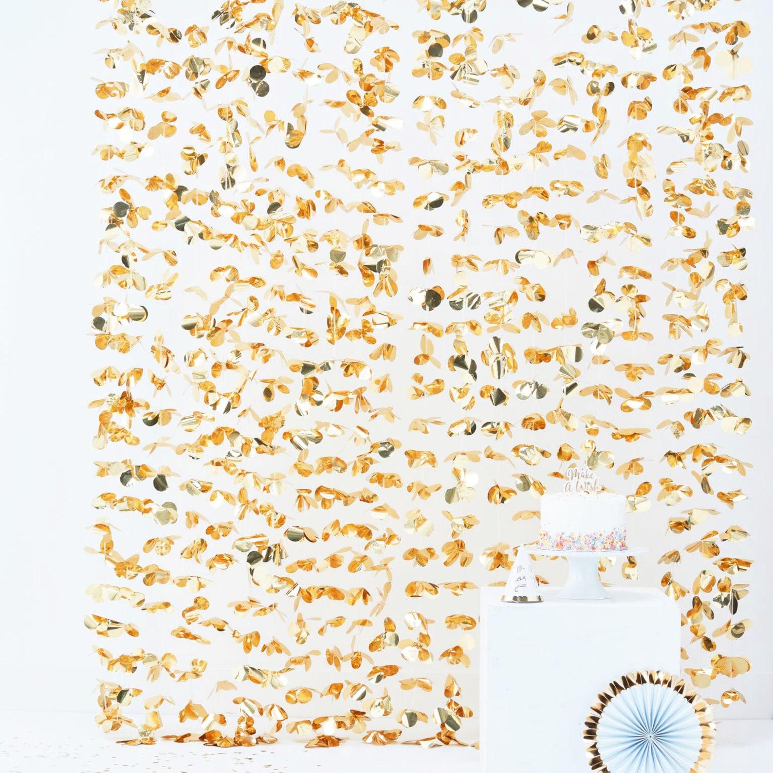 Party Vorhang Gold