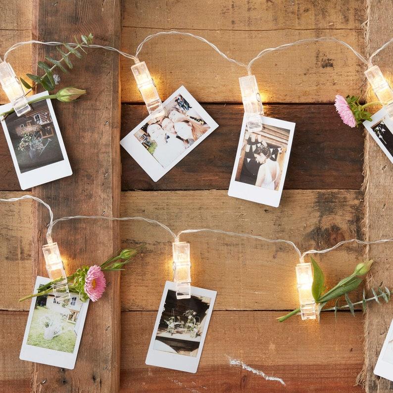 Hochzeitsdeko mit Fotos