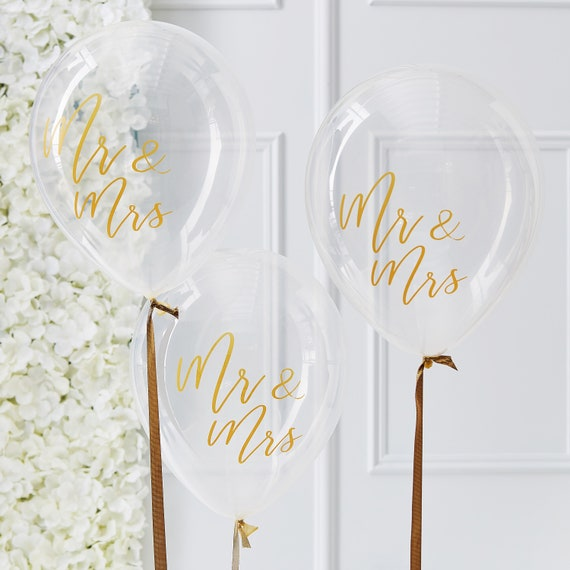 Mr Mrs Ballons Gold Hochzeit Luftballons Party Deko Fest