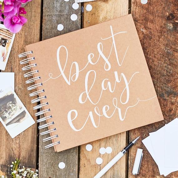"""Gästebuch """"Best day ever"""" mit Briefumschlägen"""
