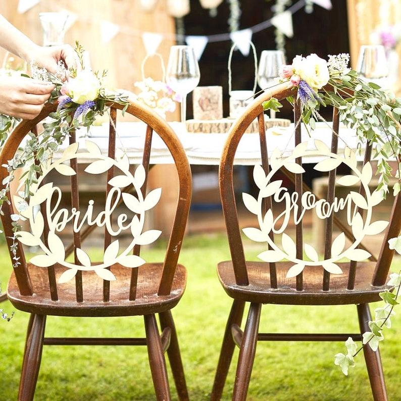 Deko Hochzeit Holz Stuhl Schilder Brautpaar Yf7ygv6Ib