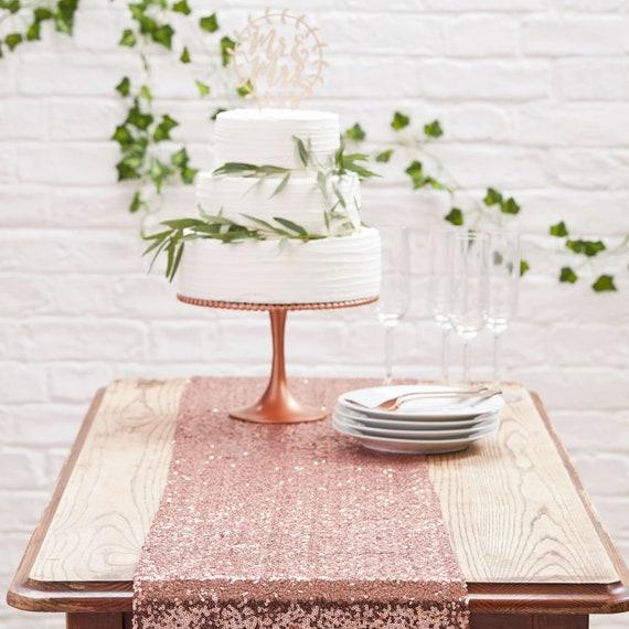Tischlaufer Decke Party Deko Set Rosegold Hochzeit Etsy