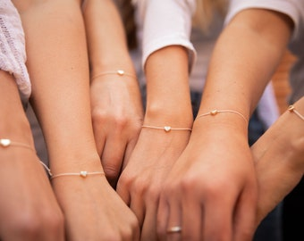 Friendship Bracelets Set of 2 JGA Bracelet Friendship Bracelet Heart Birthday Gift Gift Bracelets Girlfriend