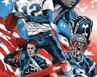 Tom Brady Poster Etsy